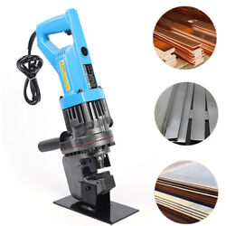 New 110v Hydraulic Electric Punching Machine Hole Digger Puncher Tool W/ 7 Mold