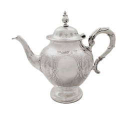 Antique Victorian Sterling Silver Teapot - 1874