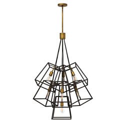7 Bulb Chandelier Hanging Pendant Light- Bronze- Led E27 60w Bulb