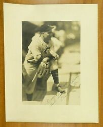 Charlie Root Babe Ruth Called Shot Pitcher Signed George Burke 11x14 Photo Psa