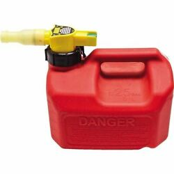 No-spill Gasoline Fuel Gas Can Red 1.25 Gallon 7.5 X 8 X 10
