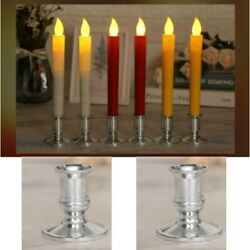 1 Pair Single Straight Taper Candle Stick Holders For Table Candles Party Decor