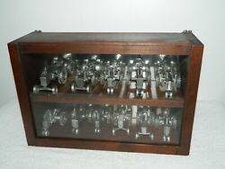11 Pewter John Deere Model Tractor In Display Case 60 620 630 730 830 4010 A D H