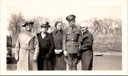 Us Army Wwi Uniform Soldier With Family Vintage Photo March 1937 Lot Of 5 Photos