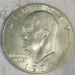 1974-s Eisenhower Ike Dollar Uncirculated 40 Silver - High Quality Scans B688