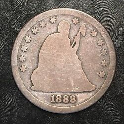 1888-s Seated Liberty Quarter - High Quality Scans F469