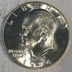 1974-s Eisenhower Ike Dollar Uncirculated 40 Silver - High Quality Scans B693