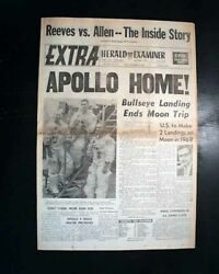 Apollo 8 Space Mission 1st To Leave Earth's Orbit And Reach Moon 1968 Newspaper