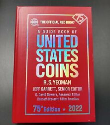 2022 Red Book Official Price Guide Of Us Coins Hard Cover Coin Value 75th New Ed