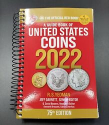 2022 Red Book Official Price Guide Of Us Coins Spiral Bound Coin Value 75th New