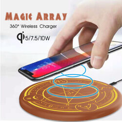 Led Qi Wireless Charger Fast Charging Pad Dock For Iphone 12 11 For Samsung New