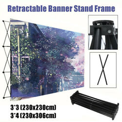Folding Metal Banner Stand Wedding Party Wall Frame Backdrop Display Portable
