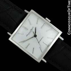 C. 1970 Vintage Mens Square 8541b Ss Steel Watch - Mint With Warranty