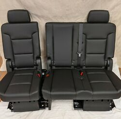 2018 Chevrolet Chevy Tahoe Oem Black Leather 2nd Second Row Seats Ls Lt Premier