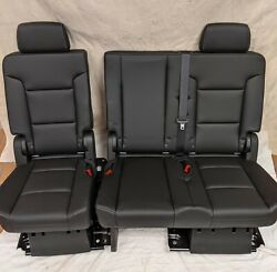 2017 Chevrolet Chevy Tahoe Oem Black Leather 2nd Second Row Seats Ls Lt Premier