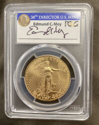 2017 Gold American Eagle 50 Pcgs Ms70 1st Day Issue 1 Of 540 Signed Edmund Moy