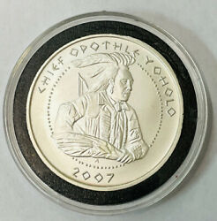 2007 Poarch Creek Indians Yoholo 1 Oz .999 Fine Silver Round One Dollar Coin