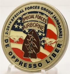 20th Special Forces Group Airborne 2nd Bn Oef 2003 Army Challenge Coin