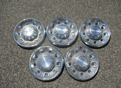 Lot Of 5 Genuine 1968 Plymouth Barracuda Satellite 14 Inch Hubcaps Wheel Covers