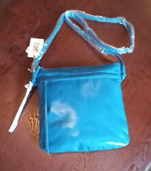 NWT HOBO INTERNATIONAL STARK LARGE CROSSBODYblue shoulder hand bagpurse $75.00