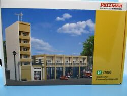 N Scale Structure Kit By Vollmer - 5 Bay Fire Station Headquarters - Large Kit