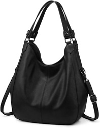 Hobo Bags Women Faux Leather Shoulder Bag Large Crossbody Bags 2 Compartments $52.95