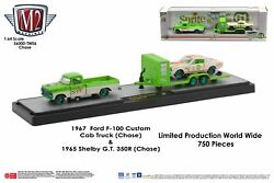 M2 Machines Auto Hauler Tw06 1967 Ford F-100 Custom Cab 65 Ford Shelby Gt Chase