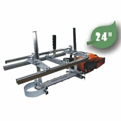 Portable Chainsaw Chain Saw Mill Planking Timber Milling 14and039and039 To 24and039and039 Guide Bar