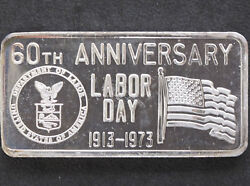 1973 Labor Day Silver Art Bar Glm-5 Great Lakes Mint P1096
