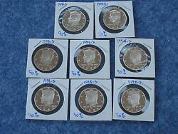 1992-1999-s Kennedy Silver Half Dollar Gem Dcam Proof Series Of 8 Coins E0002