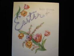 VINTAGE quot;FOR AN EASTER FULL OF CHEER quot; EASTER GREETING CARD