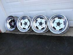Vintage M/t Mickey Thompson Chrome Slot Wheel 14x6 5x4.75 Gm Chevrolet Pontiac