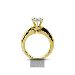 1/3ct F Si1 Round Natural Diamond 18k Classic Solitaire Engagement Ring