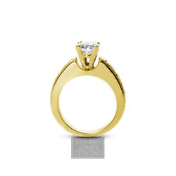 3/4ct G Si1 Round Natural Diamond 14k Vintage Style Solitaire Engagement Ring