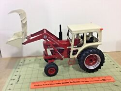 Custom 1/16 Scale International 1066 Diesel Tractor And Loader Free Insured Ship