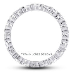 2 1/2ct G Si1 Round Earth Mined Certified Diamonds 950 Pl. Classic Eternity Ring