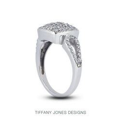 1 1/2 Ct F Vs2 Round Brilliant Natural Certified Diamonds 950 Pl. Cocktail Ring