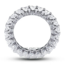 3 1/2 Ct H Si2 Round Cut Natural Certified Diamonds 18k Gold Eternity Band