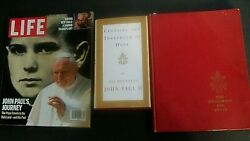 3 Book Lot John Paul Ii's Storied Life, The Catholic Religion And The Holy Land