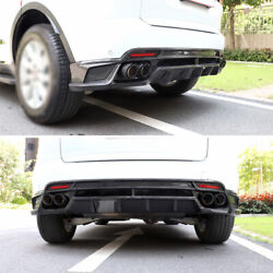 Rear Lip And Rear Tail Exhaust Pipe For Jaguar E-pace 2018-2020 Dry Carbon Fiber