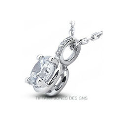 3/4 Ct F Si1 Round Cut Earth Mined Certified Diamonds 950 Pl. Classic Pendant