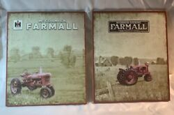 Set Of Two Farmall Mccormick Wooden Signs 14 Tall By 11 3/4 Wide 13983