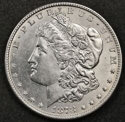 1878-s Morgan Silver Dollar. Clean Cheeks Clean Fields. Bu Inventory H