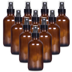 4 Oz Empty Small Glass Spray Bottles For Cleaning Solutions 4oz Amber Glass Mist
