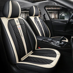 Leather Car Seat Covers Full Set Seat Accessories Fit For Bmw Suv Truck Auto