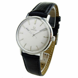 Omega Vintage Stainless Steel Mechanical Wristwatch Dating Circa 1964