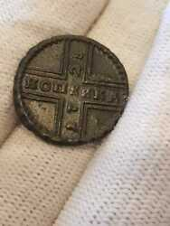 1728 Imperial Russia 1 Kopeck Moskva Moscow Type Copper Coin Rare 96