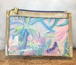 LILLY PULITZER GWP Beach Cosmetic Clear Zip POUCH SWEET ESCAPE NWT New SEALED $28.50