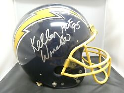 1970and039s San Diego Chargers Game Used Football Helmet Signed By Kellen Winslow Jsa