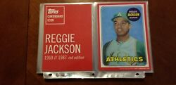 Extremely Rare Reggie Jackson 5x7 82-01 Cardboard Icons- Red Series 06 Of 10